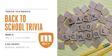Back To School Trivia tickets