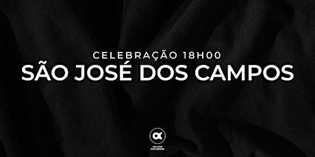 CULTO SÃO JOSÉ DOS CAMPOS  01/08 - 18H00 ingressos