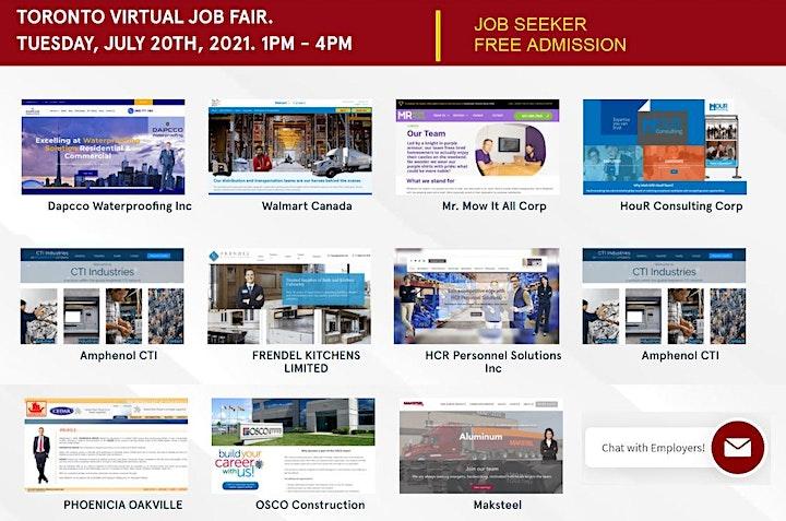 Hamilton Virtual Job Fair - Tuesday, July 20th, 2021 image