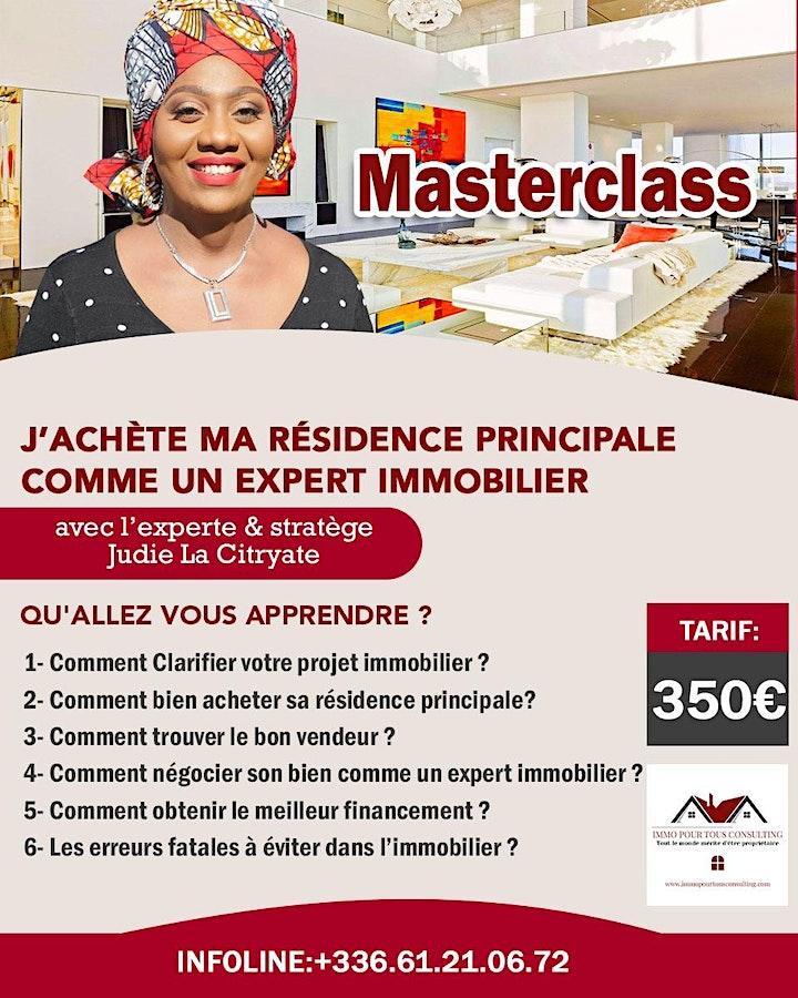 Image pour MASTERCLASS J'ACHETE MA RESIDENCE PRINCIPALE