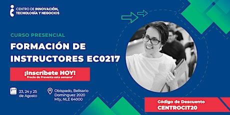 Curso: Formación de Instructores EC0217 boletos
