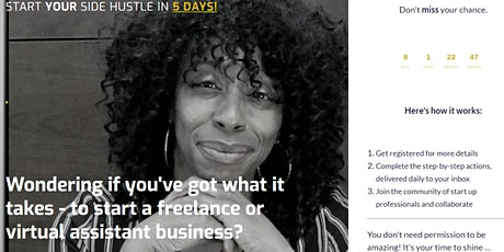 Start Your  Online Business |  Join the  5 Day Startup Challenge | Free tickets