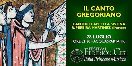 Il canto gregoriano biglietti