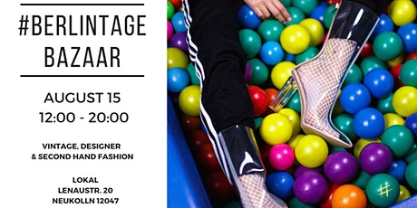 #BERLINTAGE BAZAAR I pop up market for vintage and second hand fashion Tickets