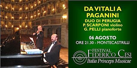 Da Vitali a Paganini biglietti