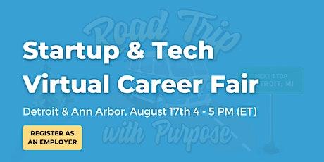 Startup & Tech Virtual Career Fair Employer Booth - Detroit / Ann Arbor tickets