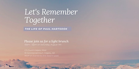 Let's Remember Together the Life of Paul Hartsook tickets