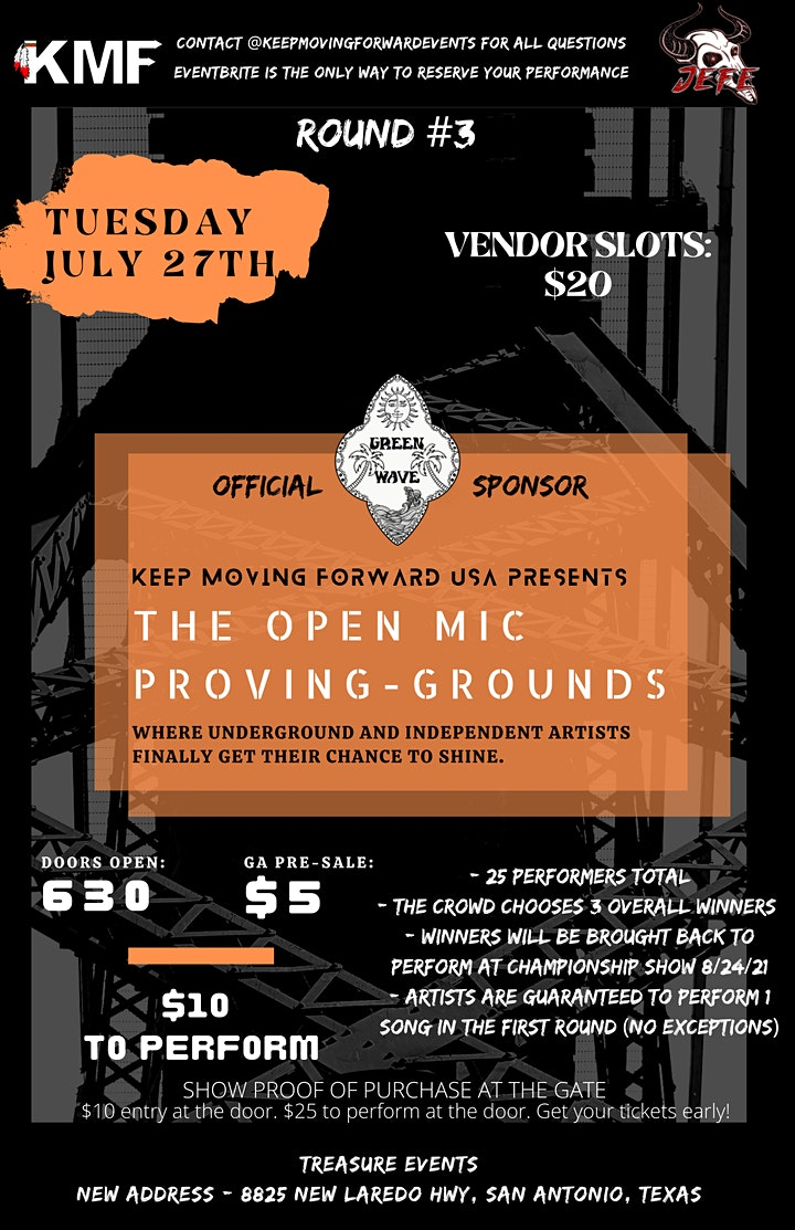 Show #3- The Open Mic Proving Grounds -Presented By Keep Moving Forward USA image