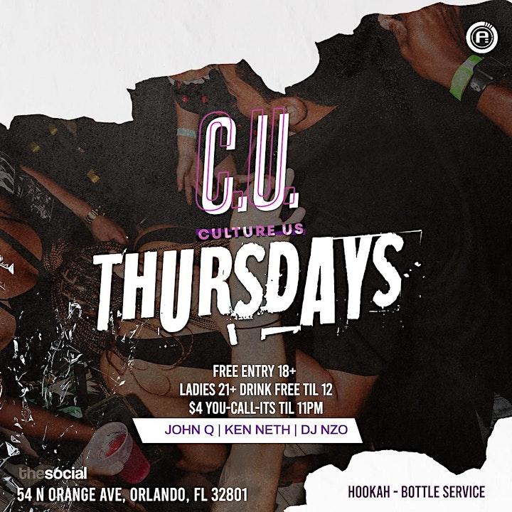 C.U. Thursday's @ The Social (Downtown Orlando) image