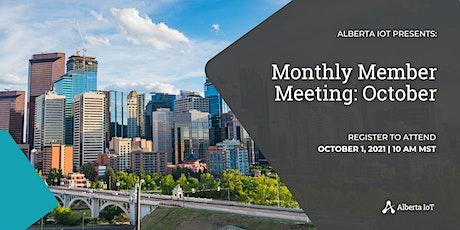 Monthly Member Meeting - October tickets