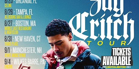 Jay Critch Concert Manchester,NH @ Jewel Music Venue tickets