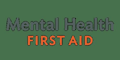Adult Mental Health First Aid - Virtual tickets