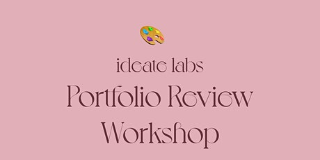 Portfolio Review Workshop tickets