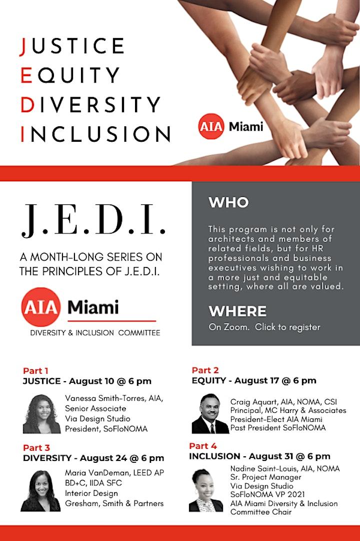 Principles of J.E.D.I - Justice, Equity, Diversity & Inclusion image