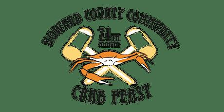 74th Annual Howard County Community Crab Feast tickets