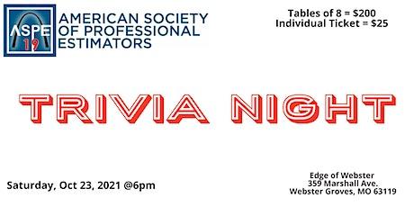 ASPE STL Annual Charity Trivia Night Take 2 tickets
