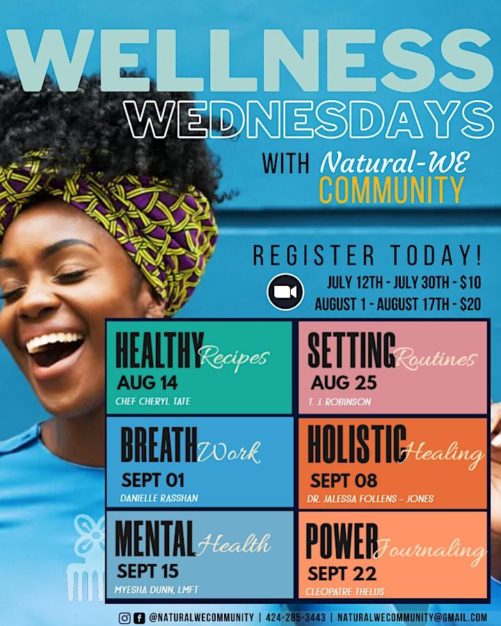 Natural-WE Community Wellness Wednesday image