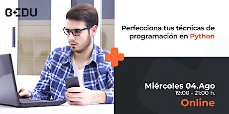 Perfecciona tus técnicas de programación en Python/Sesiones en vivo. entradas