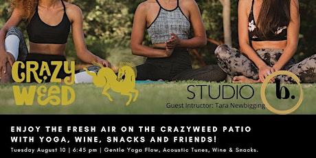 Crazyweed Restaurant hosts an evening of Wine & Yoga Flow tickets