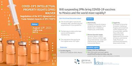 Webinar: TRIPS  negotiation in the WTO | Negociación de los ADPIC en OMC entradas