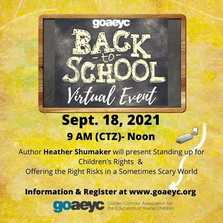 GoAEYC's Back to School Event with Heather Shumaker image