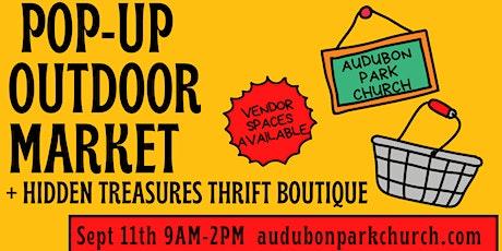 September 2021 Outdoor Market Booth Space Rental at Audubon Park Church tickets
