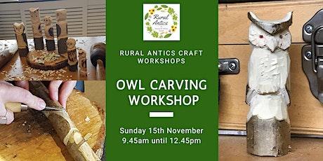Owl Carving Workshop tickets