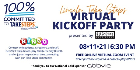 Lincoln Take Steps Kickoff Party presented by Husker Auto Group tickets