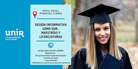 Sesión Informativa UNIR México CDMX (Sur) boletos