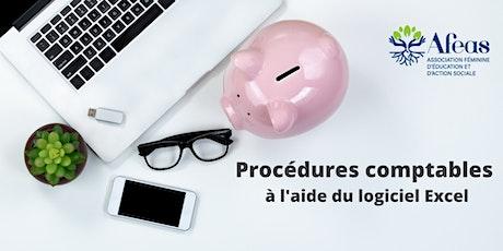 Procédures comptables à l'aide du logiciel Excel tickets