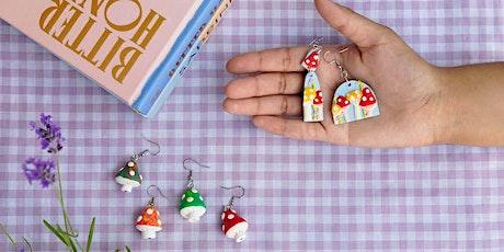 Jewelry: Polymer Clay Mushroom Earrings tickets