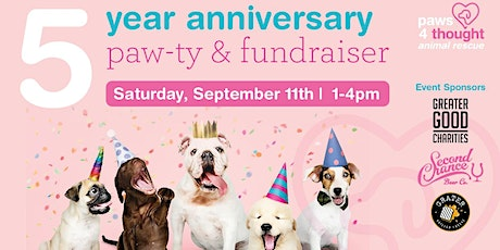 Paws4thought 5th Anniversary Paw-ty & Fundraiser tickets