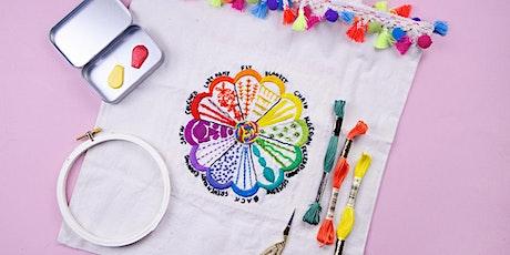 12 Stitch Embroidery Sampler WebJam 1 + 2 tickets