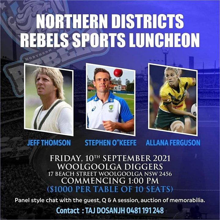 Northern Districts Rebels Lunch image