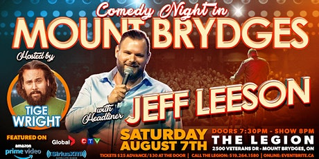 Comedy Night in Mount Brydges tickets