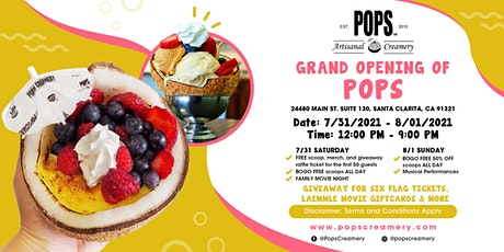 POPS GRAND OPENING tickets