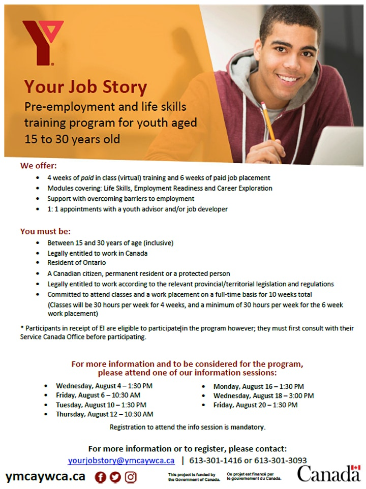 Youth Job Story Information Session image