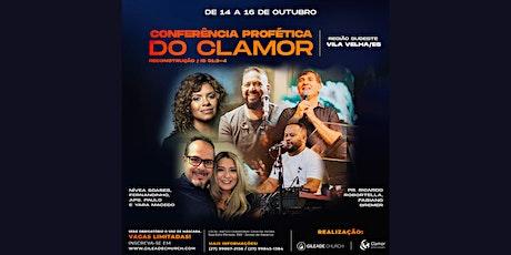 CONFERÊNCIA PROFÉTICA DO CLAMOR PARA AS NAÇÕES ingressos