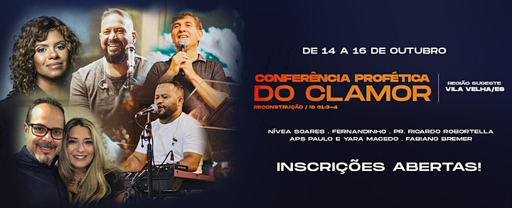 Imagem do evento CONFERÊNCIA PROFÉTICA DO CLAMOR PARA AS NAÇÕES