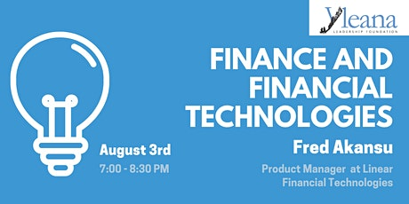 Finance and Financial Technologies - with Fred Akansu tickets