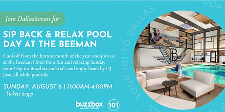 Sip Back & Relax Pool Day at the Beeman Hotel tickets