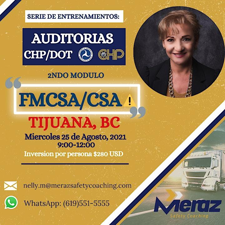 ENTRENAMIENTOS: FMCSA / CSA image