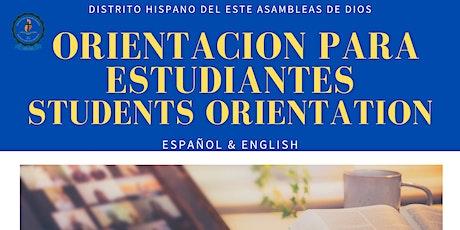 Orientacion para Estudiantes Instituto Biblico AD / STudents Orientation boletos