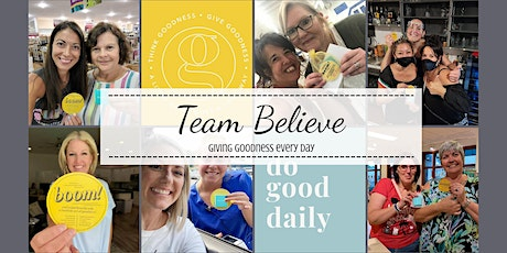 Team Believe Think Goodness Celebration Dinner and Dance Party! tickets