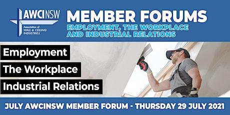 July Member Forum Tickets