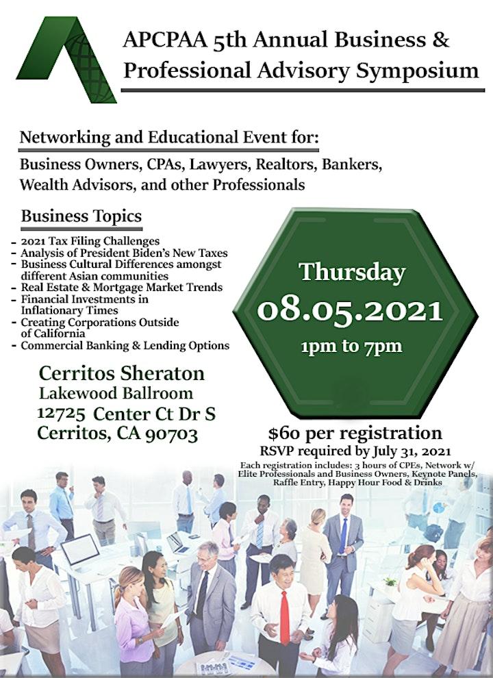 2021 APCPAA 5th Annual Business & Professional Advisory Symposium image
