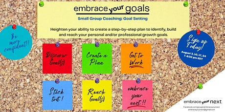 embrace your goals: Small Group Coaching tickets