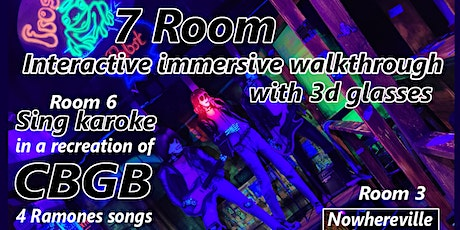 Karaoke in a CBGB-Themed 3d Immersive Show with 7 Unique Rooms tickets