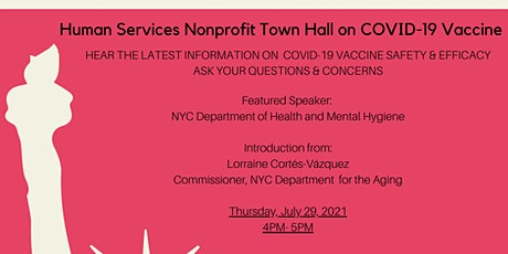 Human Services Nonprofit Town Hall on COVID-19 Vaccine tickets