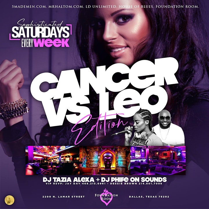 """""""SOPHISTICATED SATURDAY'S"""" (Every Saturday) @Foundation VIP Lounge image"""